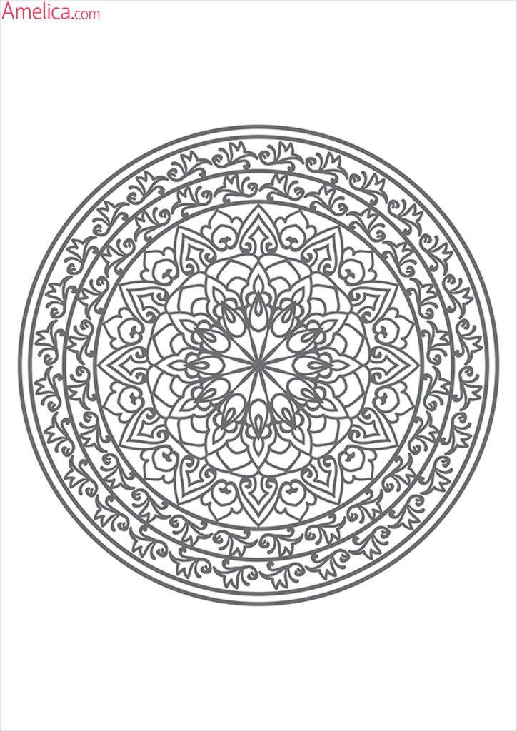 мандалы для раскрашивания скачать, Mandala Coloring (With ...