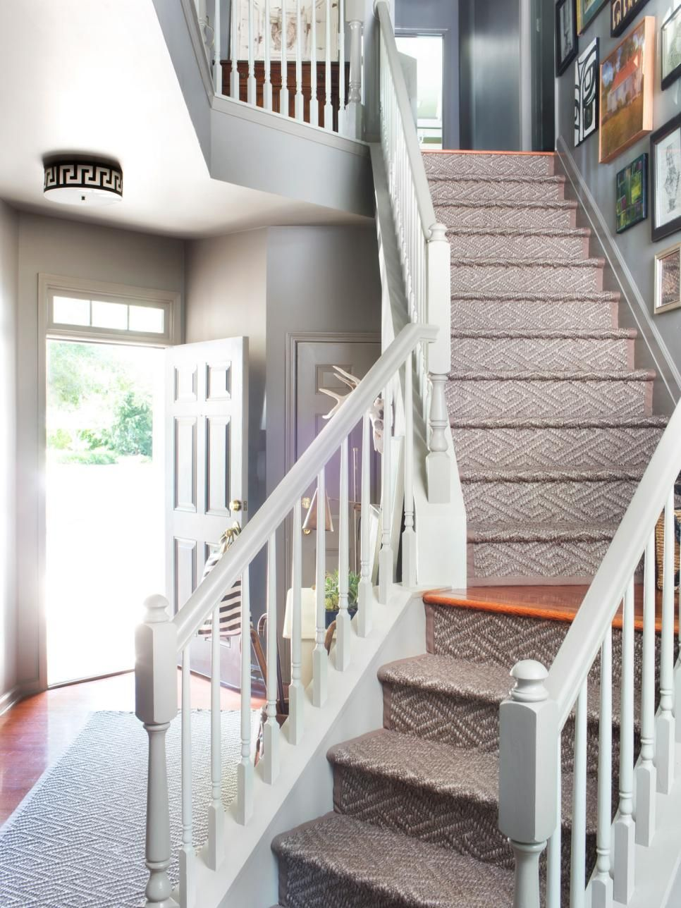 Lovely Affordable Ways To Update An Entryway. Staircase RunnerStair ...