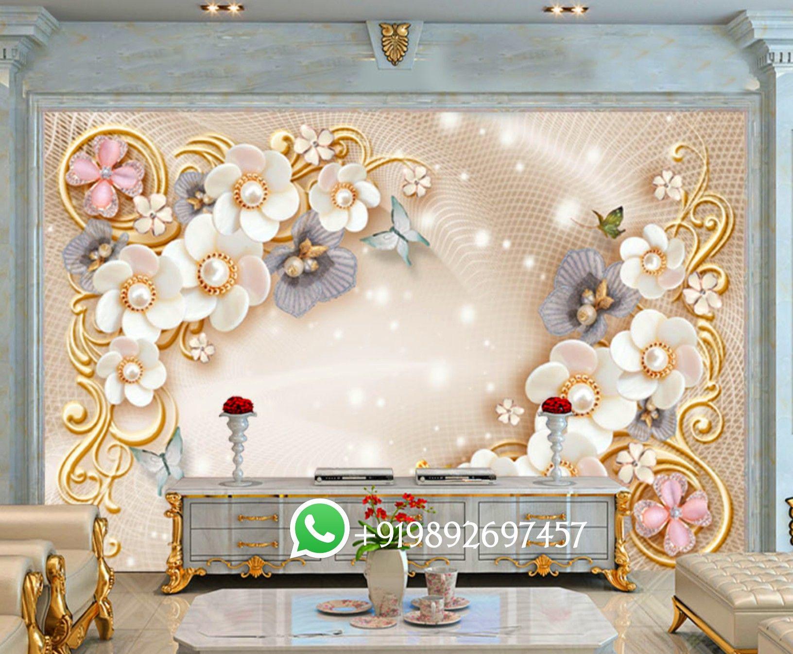 Lovely Wallpaper For Tv Unit Wall 5d 5d Wallpaper For Living Room Tv Unit Area 5d Beautiful 3d Wallpaper Decor Wallpaper Living Room Wallpaper Decor