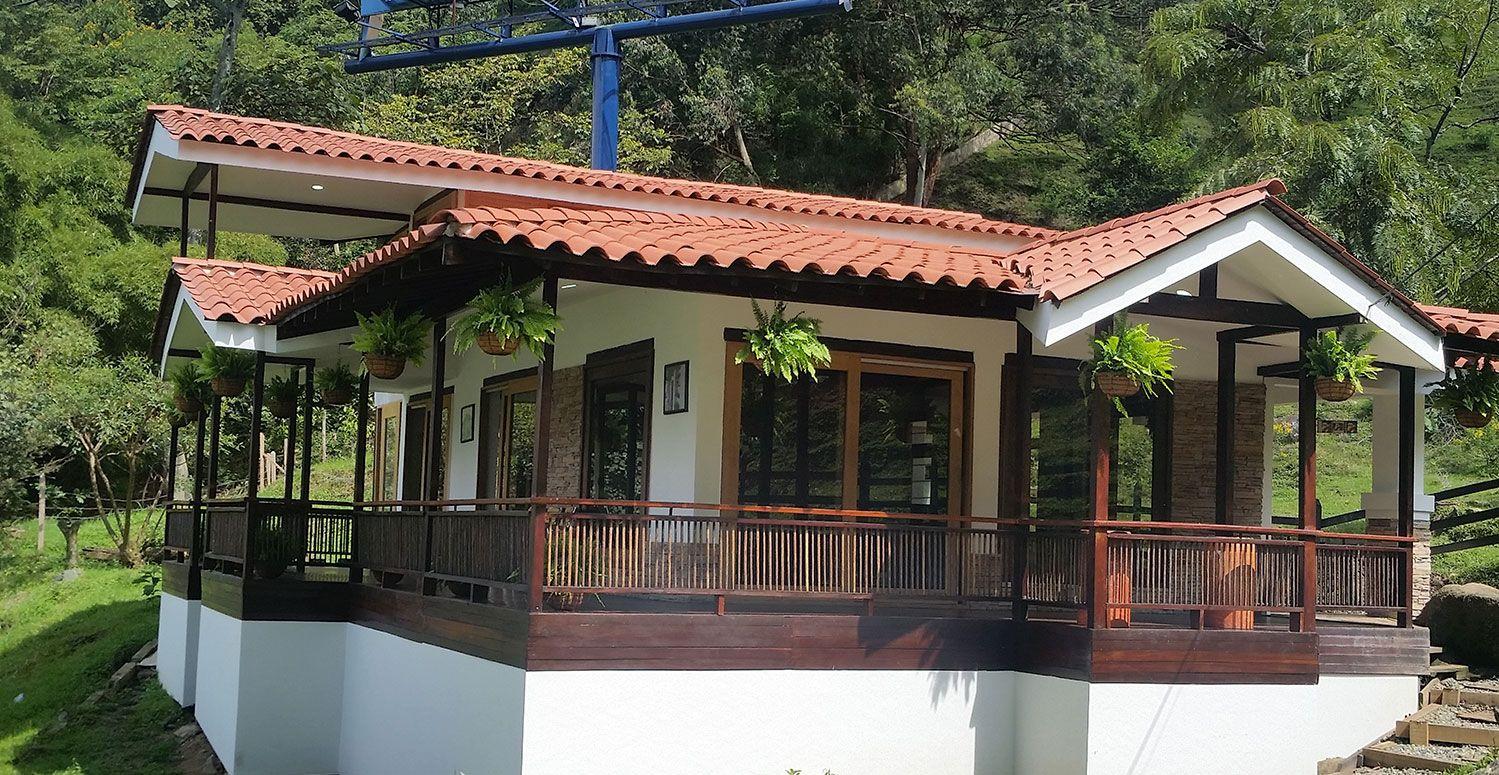 Casas prefabricadas dise o de casa peque a pinterest for Disenos y planos de casas prefabricadas
