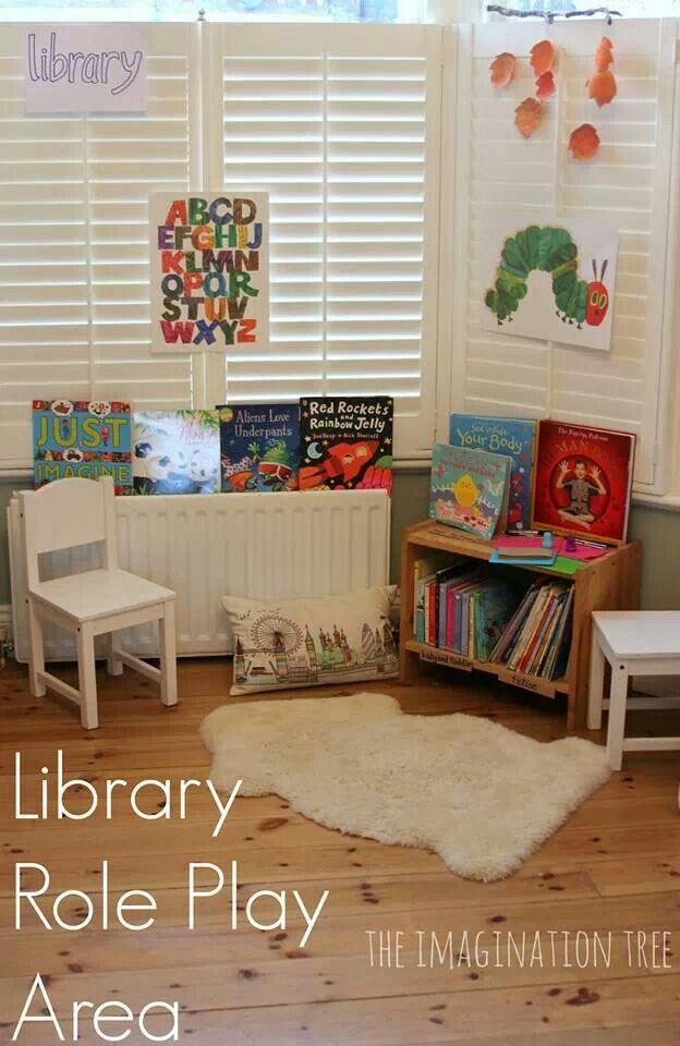 Kids Library Corner Reading Pinterest