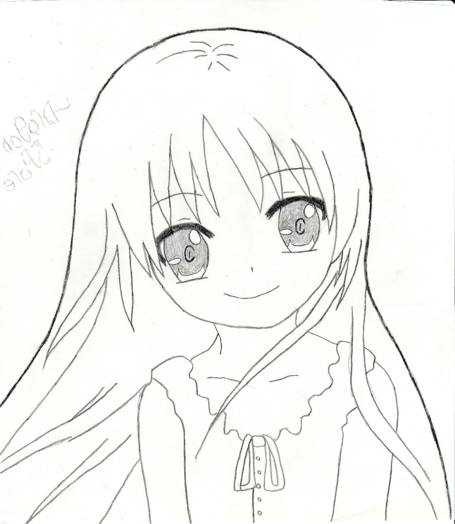 Cute Anime Drawings Easy Girl Drawing How To Draw A Step