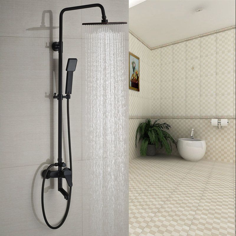$118.68 | Buy Single Handle Rainfall Shower Faucet Mixer Tap Wall ...