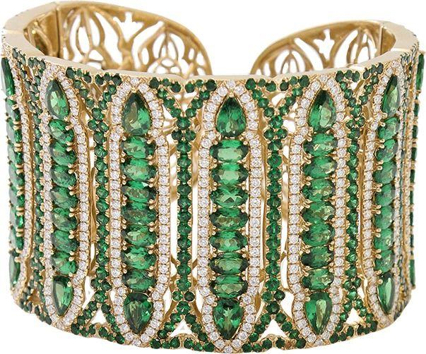 WENDY YUE Tsavorite Cuff Bracelet on shopstyle.com