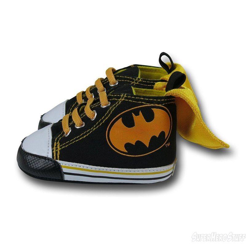 5e9e2afd1a4d09 Batman Caped High Top Infant Sneakers