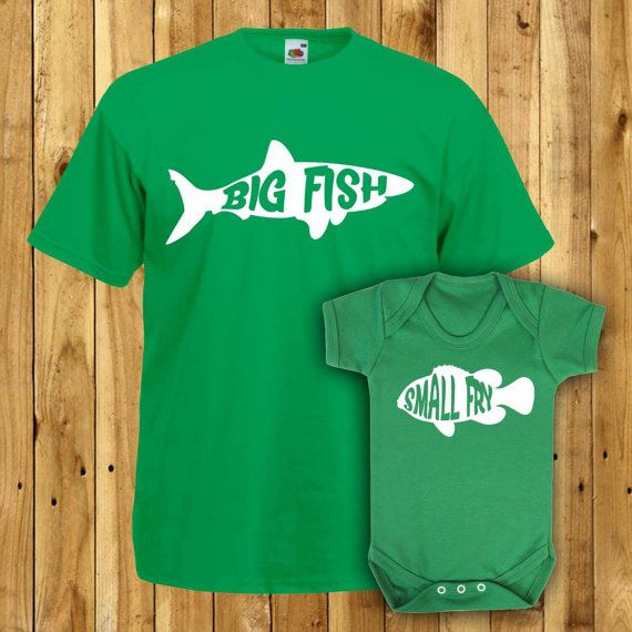 Matching Father Son Tshirts Daddy Gift Set Dad Birthday Present Fishing T Shirts Daughter Tees Fathers Day