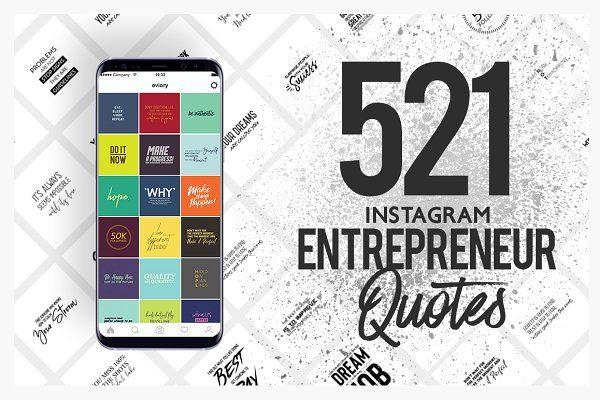 521 Entrepreneur Social Media Quote\u2026 by eviory on @creativemarket