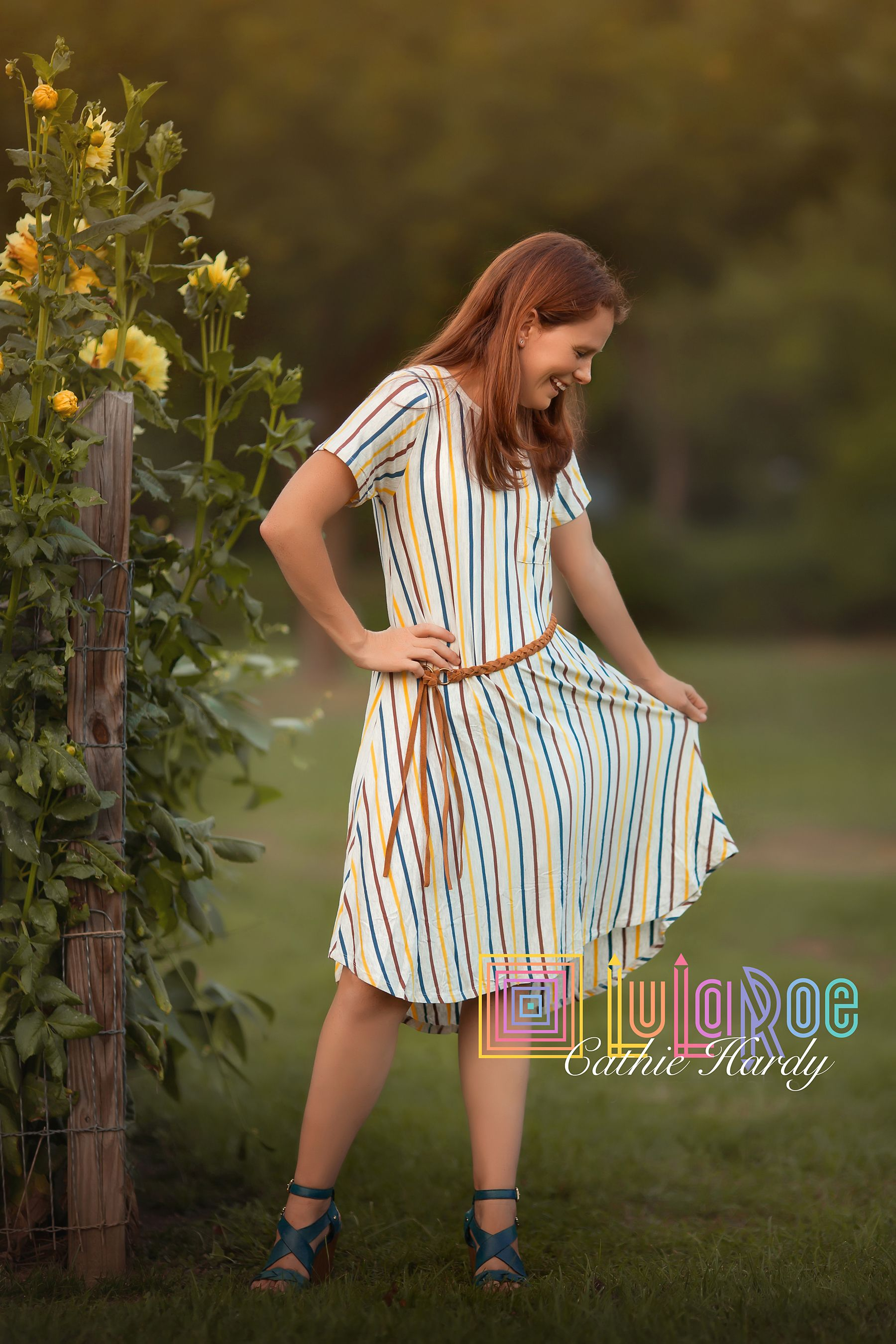 Size XXS LuLaRoe vertical stripe Carly dress. #lularoe #lularoecarly