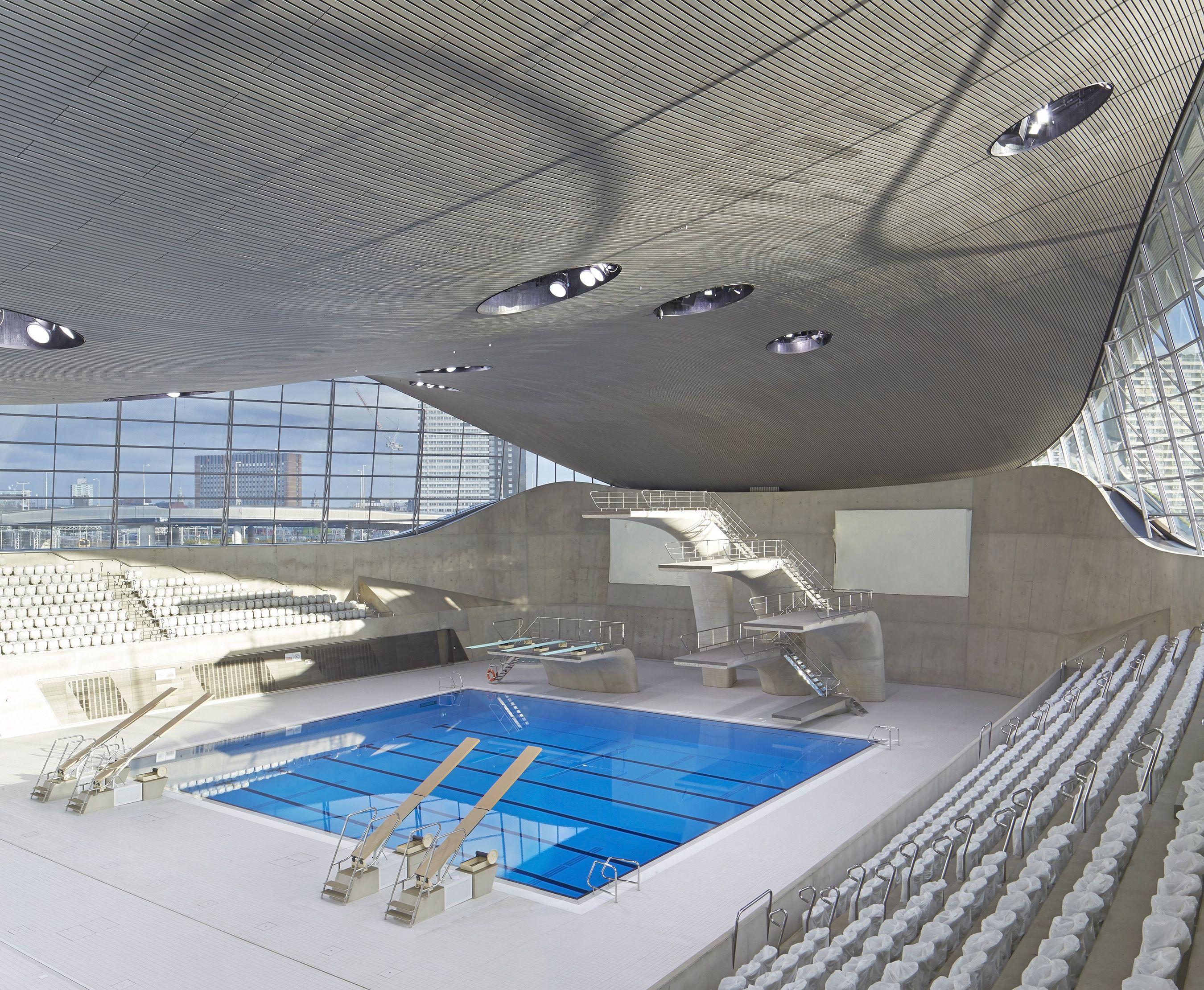 The London Aquatics Centre, Iconic Modern Concrete Architecture Design By
