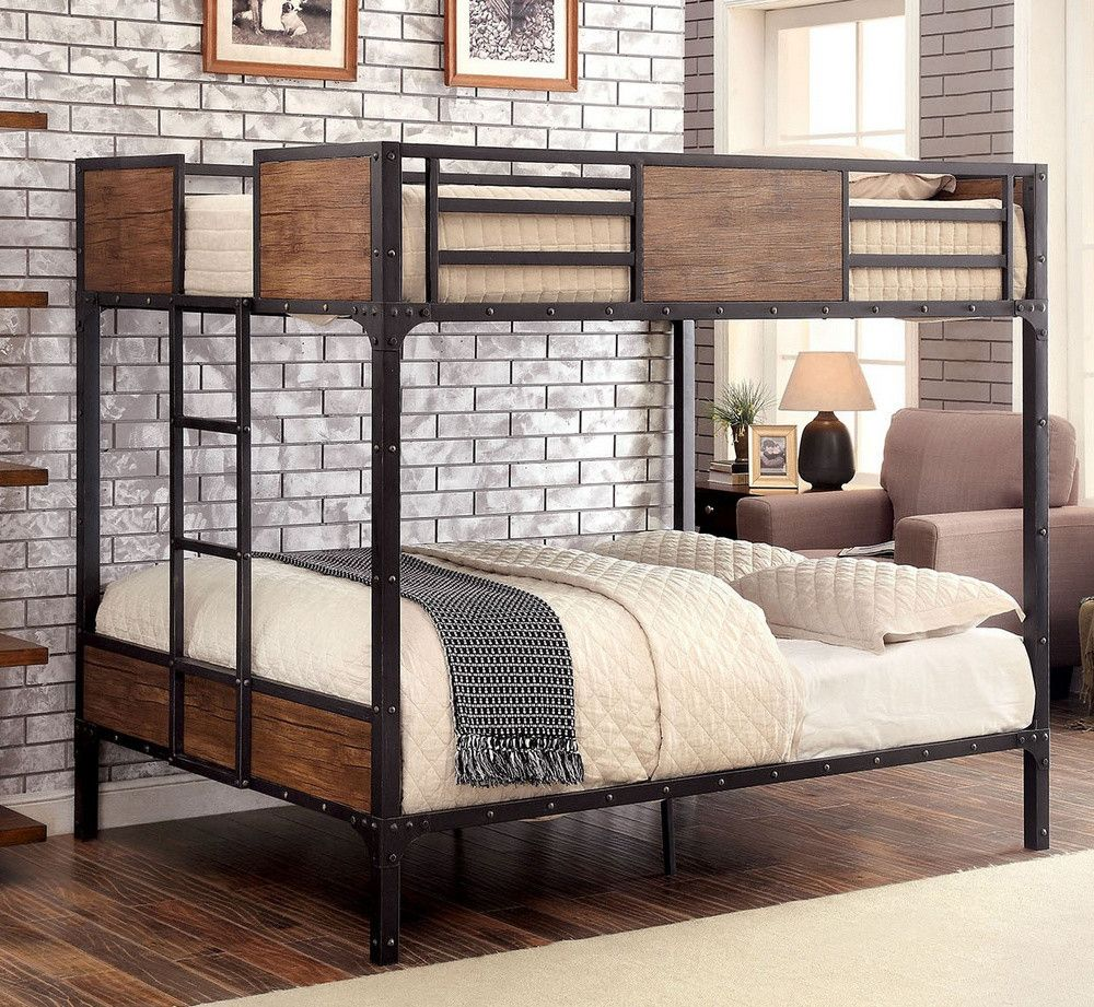 Spring Creek Twin Xl Over Queen Bunk Bed By Furniture Of America