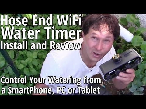 How to Install a Hose End WiFi Water Timer - Control Your Garden Waterin.  sc 1 st  Pinterest & How to Install a Hose End WiFi Water Timer - Control Your Garden ...