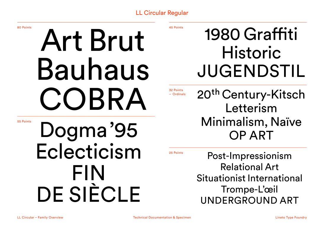 LL Circular - Lineto com | Typography | Typography design