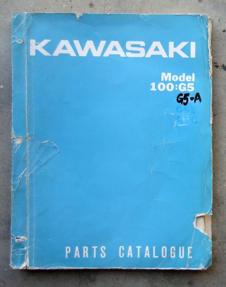 KAWASAKI 100 G5 1971 - Workshop Parts List + FREE CD-R