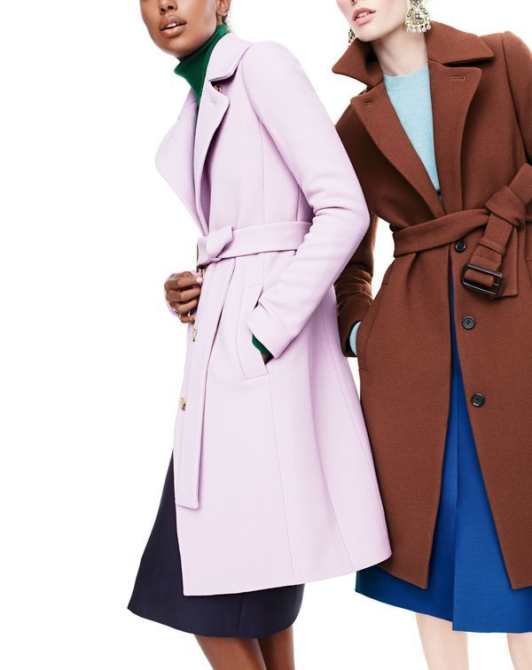 J. Crew Double Cloth Belted Trench Coat. J. Crew's November 2015 style guide taking on coat styles with polished finish