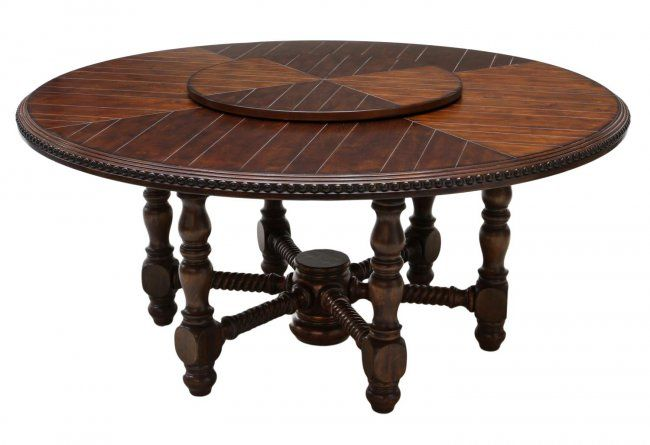 Round Dining Table Amp Lazy Susan 70 Quot D Lot 258 Round Wood Dining Table 60 Inch Round Dining Table Dining Table