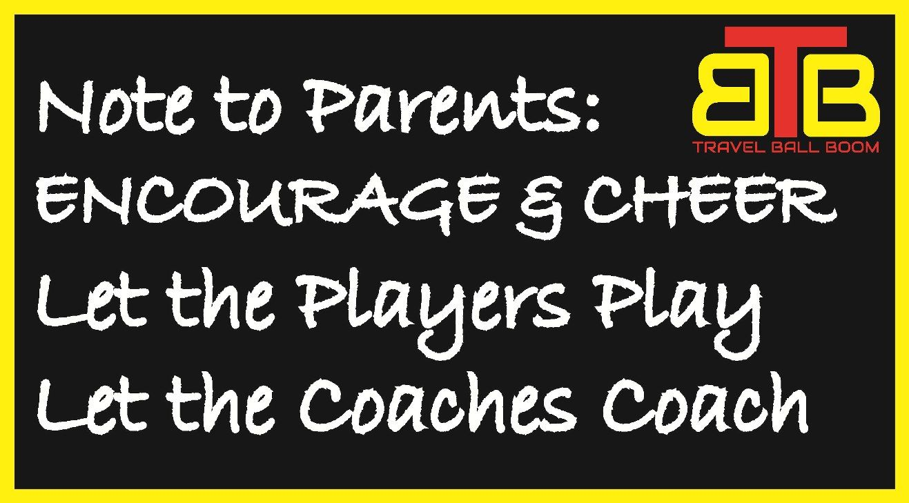 No coaching from the stands! Notes to parents, Youth