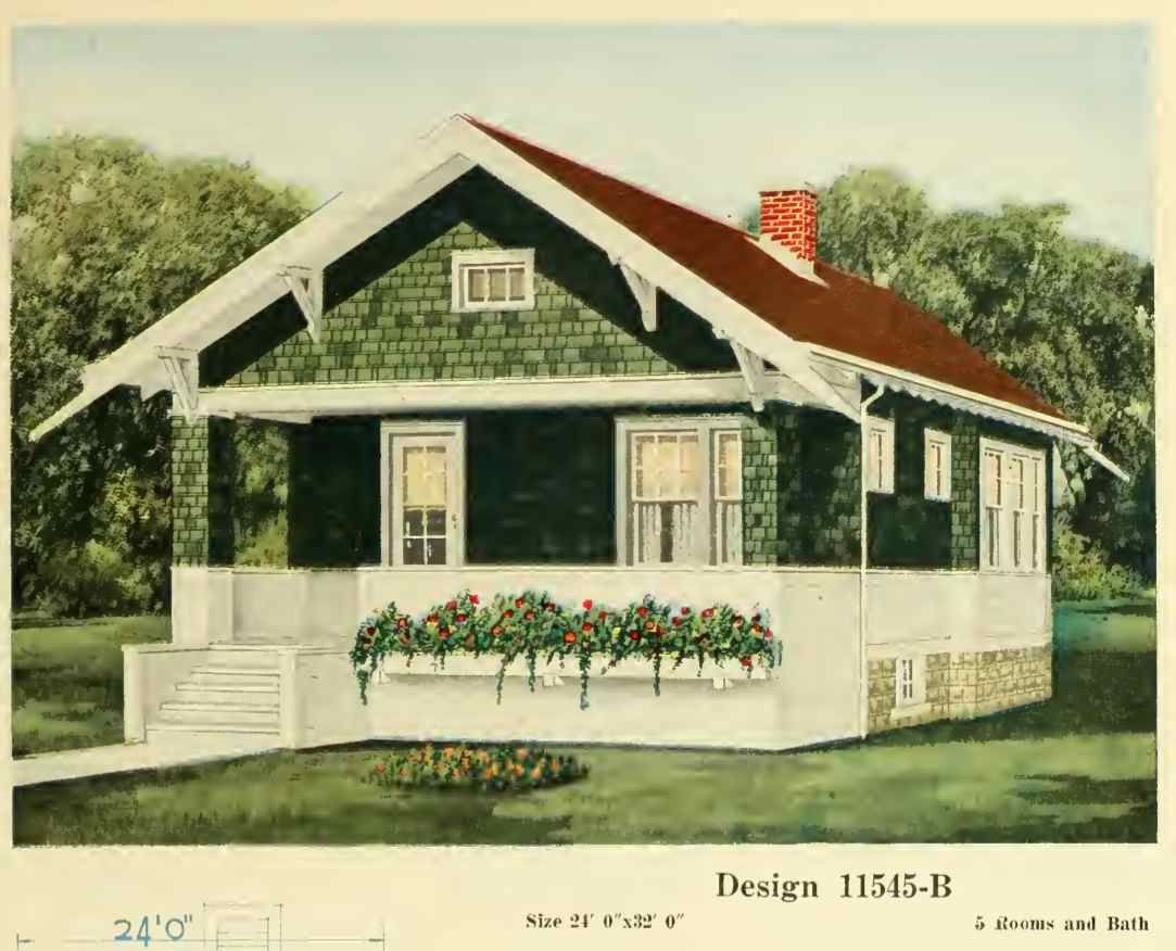 From a house plan catalog put out by central lumber in 1920 house exteriors early 1900s - Craftsman bungalow home exterior ...