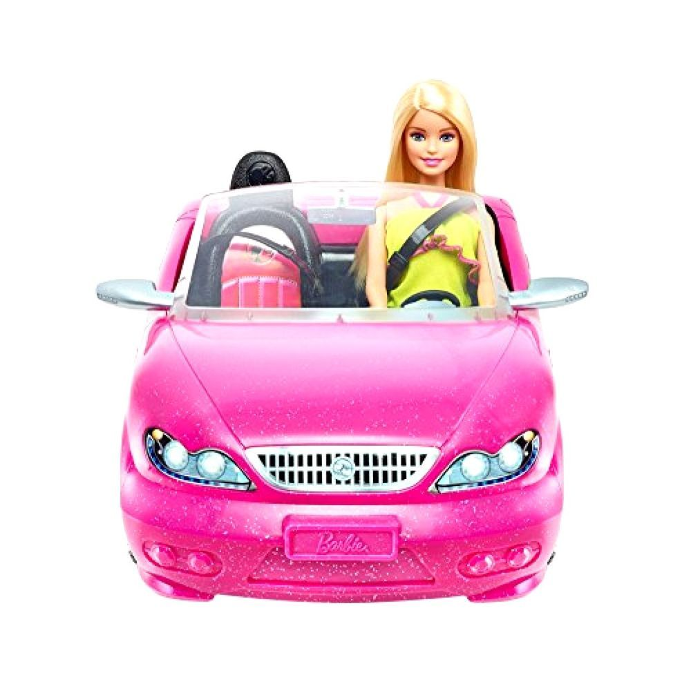 Car toys for girls  Barbie Glam Car Convertible Pink Doll New Mattel Vehicle Hot And Toy