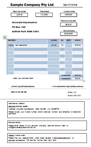 Professional Australian Tax Invoice Templates Demplates Invoice Template Invoicing Tax