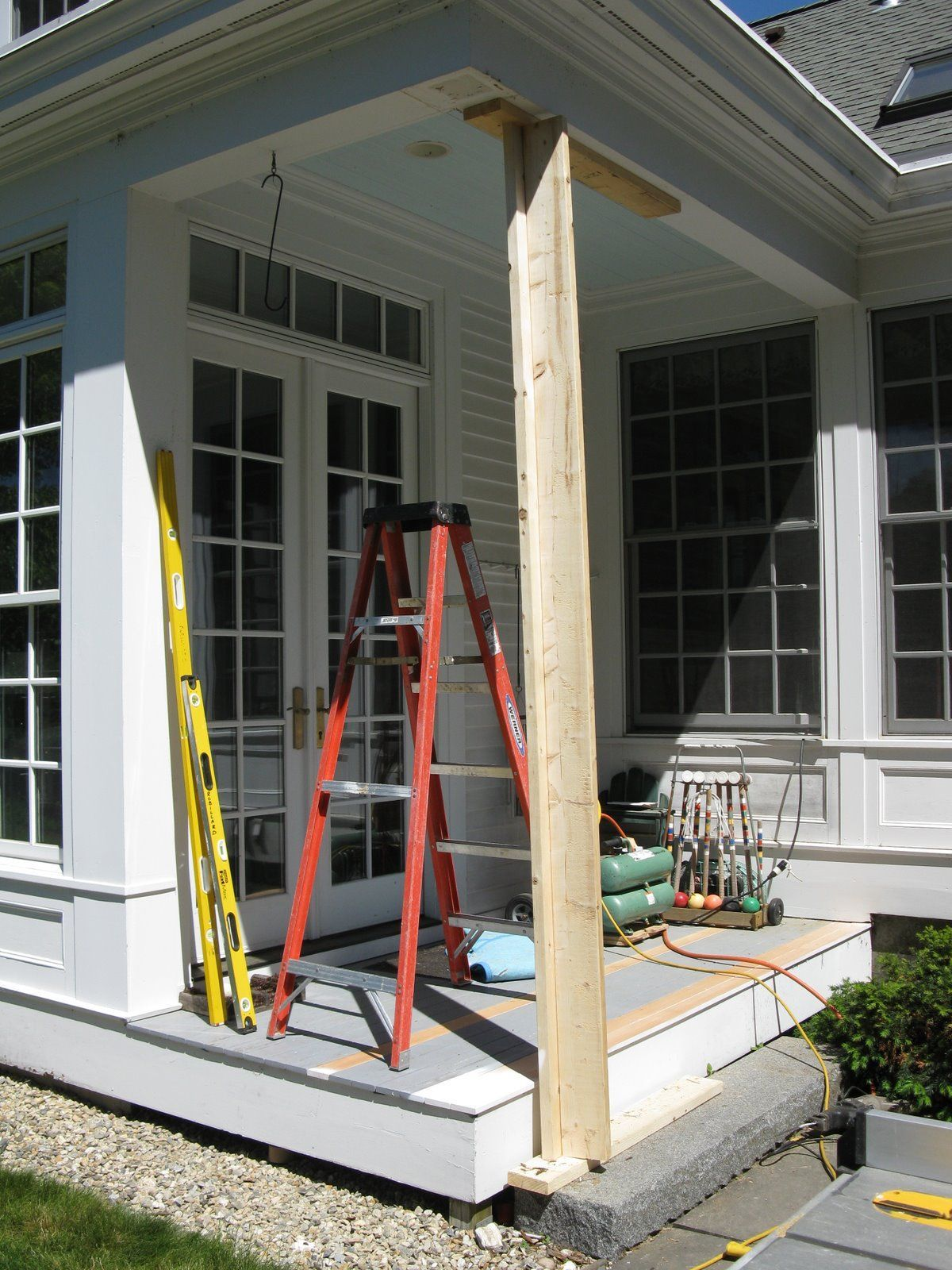 Replacing A Wood Porch Post Concord