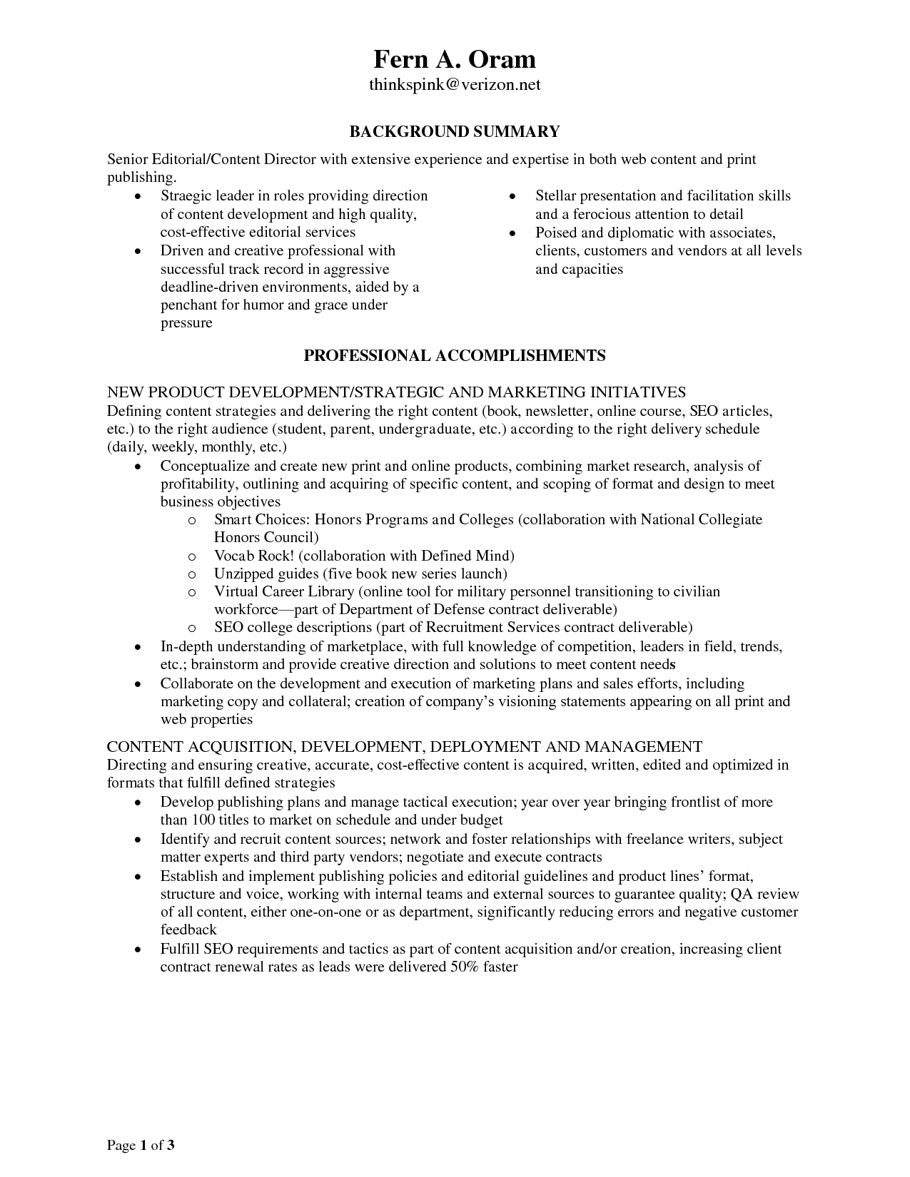 Resume Examples Monster Resumeexamples