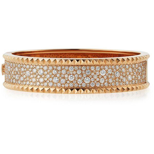 Roberto Coin ROCK & DIAMONDS 18K Rose Gold Bangle NKOf9L0m1I