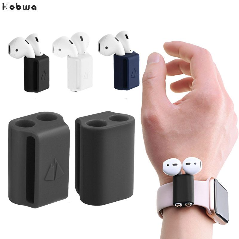 Silicone AirPods Holder for Apple Watch #electronicgadgets