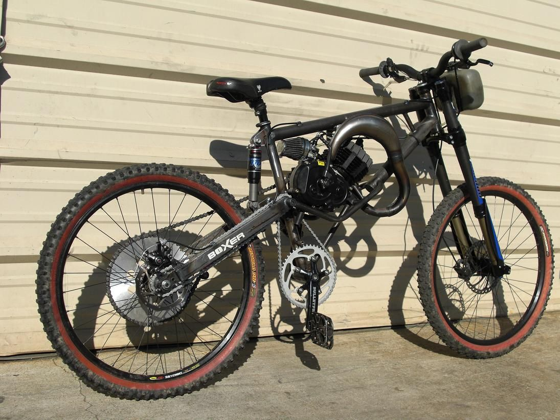 Full Suspension Motorized Mountain Bike | Motorized bicycles