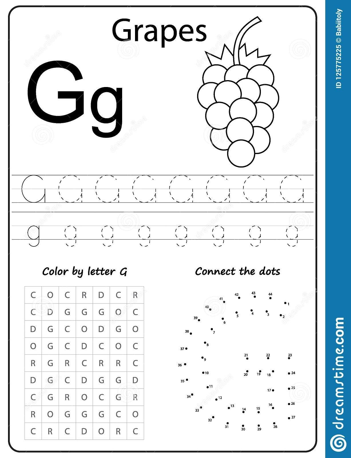 Letter G Worksheets For Kindergarten Writing Letter G