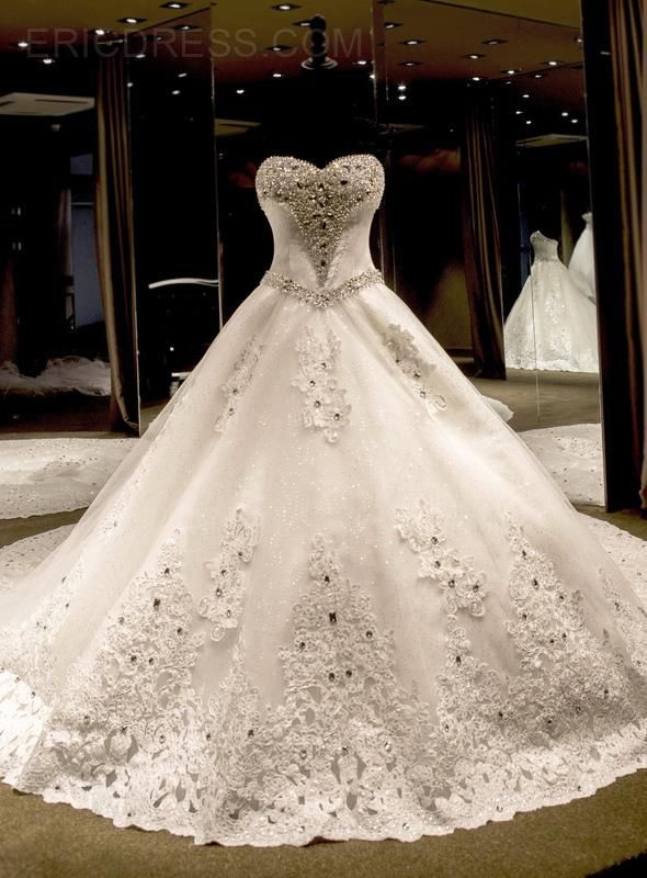 5bb31e89f1ae Ericdress Sweetheart Beading Cathedral Train Wedding Dress Wedding Dresses  2015- ericdress.com 11303103