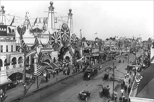 Luna Park And Surf Ave  By Irving Underhill