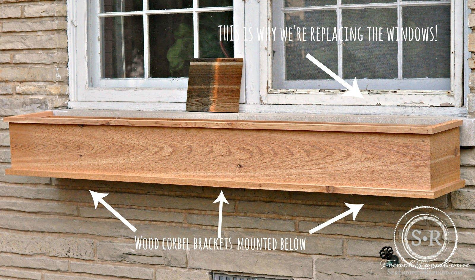How To Build A Diy Rustic Cedar Window Flower Box Window Boxes Diy Window Box Flowers Window Flower Boxes Diy