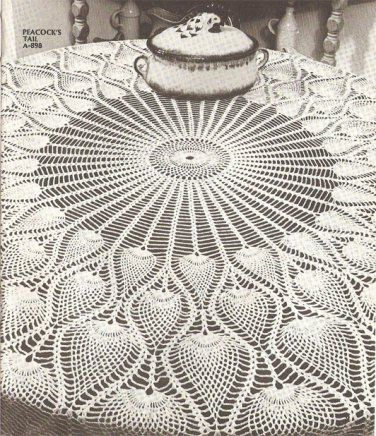 Pineapple Tablecloth Pattern, also makes a beautiful shawl ...