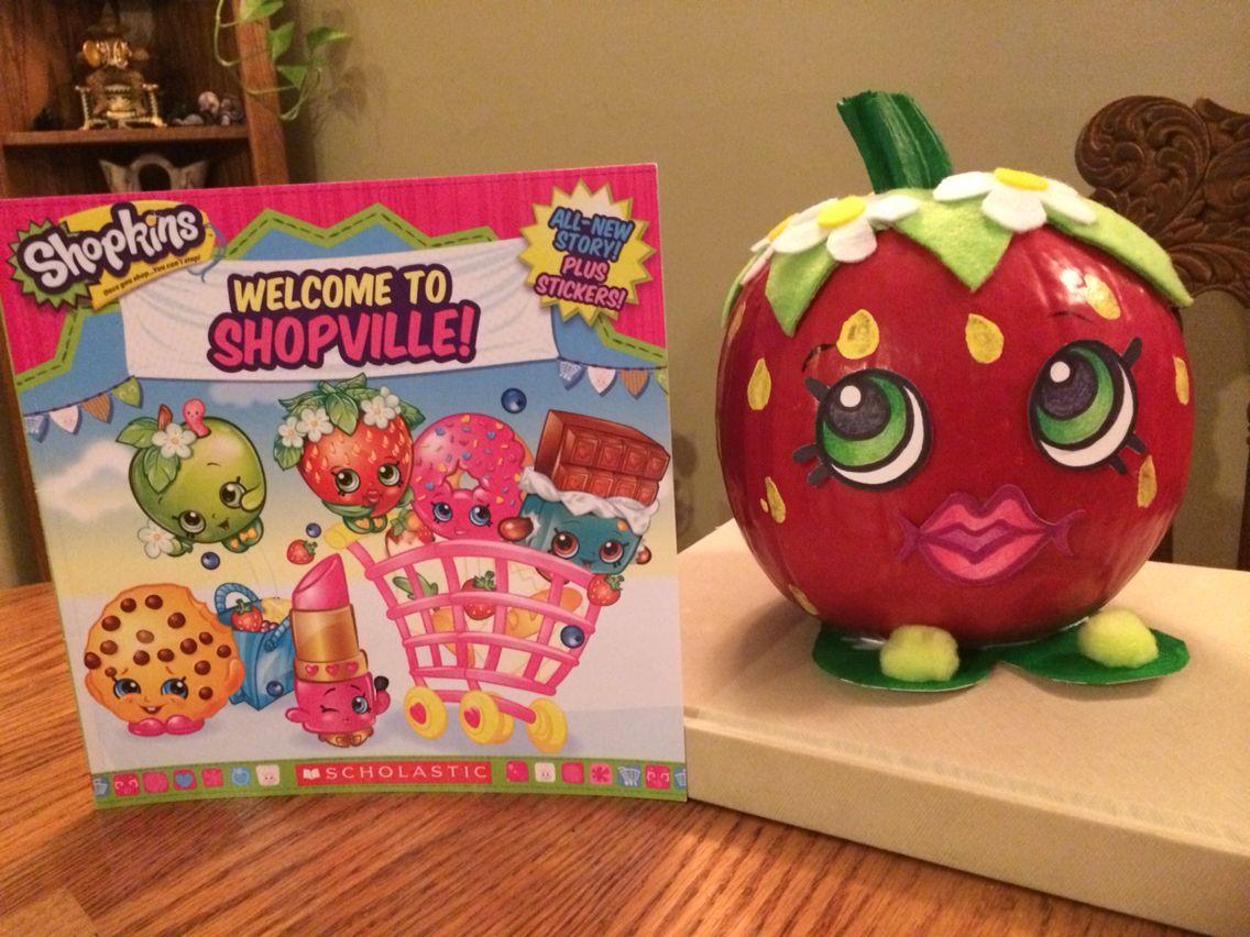 Strawberry Kiss Shopkins pumpkin   Jacquelyn school   Pinterest ...