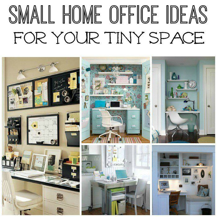 Five Small Home Office Ideas Spaces, Organizing and Organizations