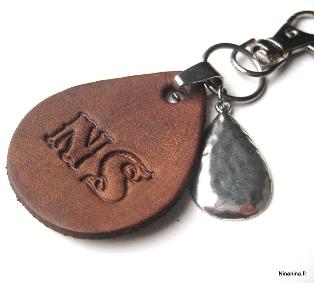 f5d5f8d5ce10 Porte-clé cuir personnalisé