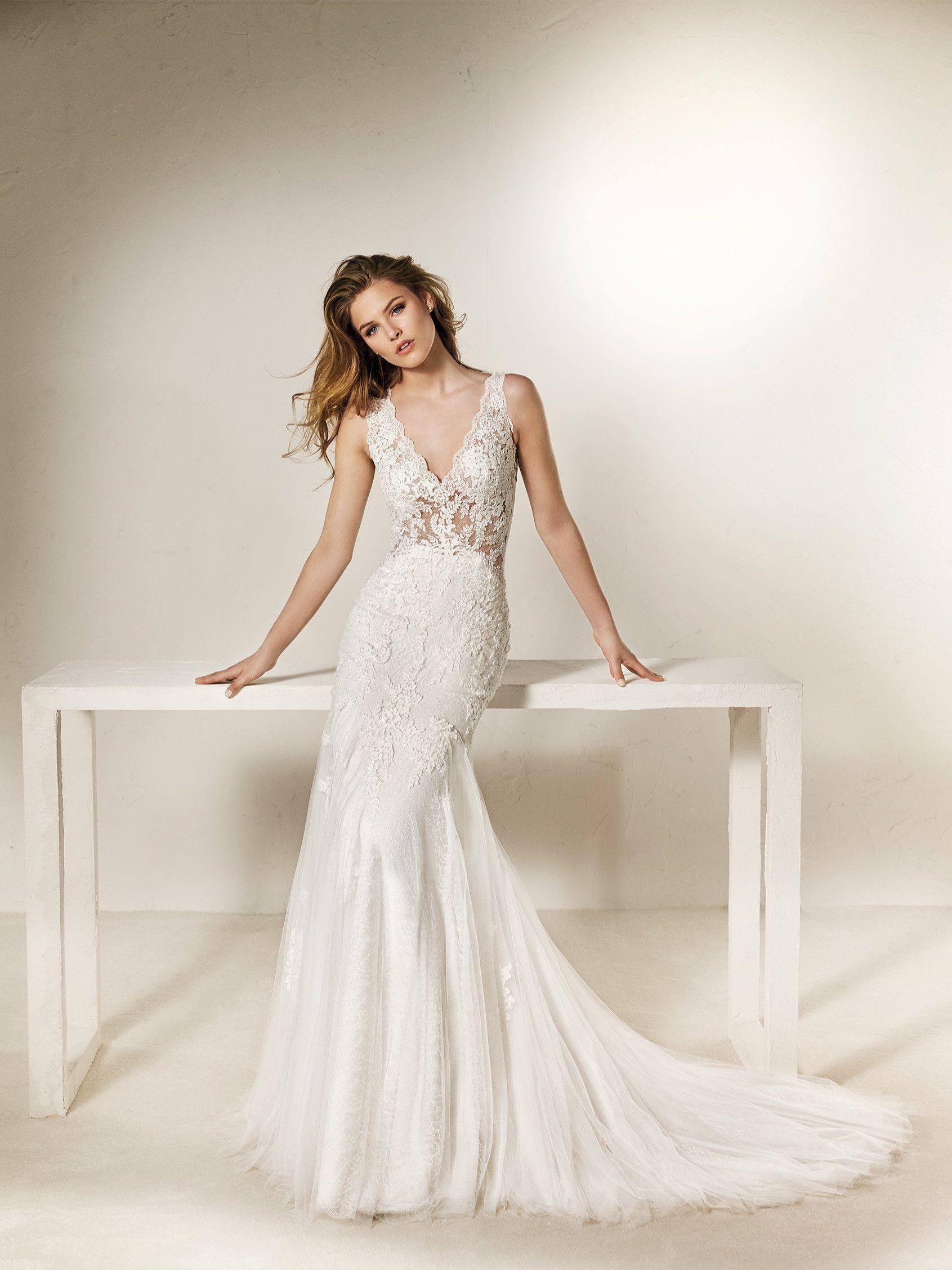 Chanai: Vestido de noiva sereia com transparências e flores ...
