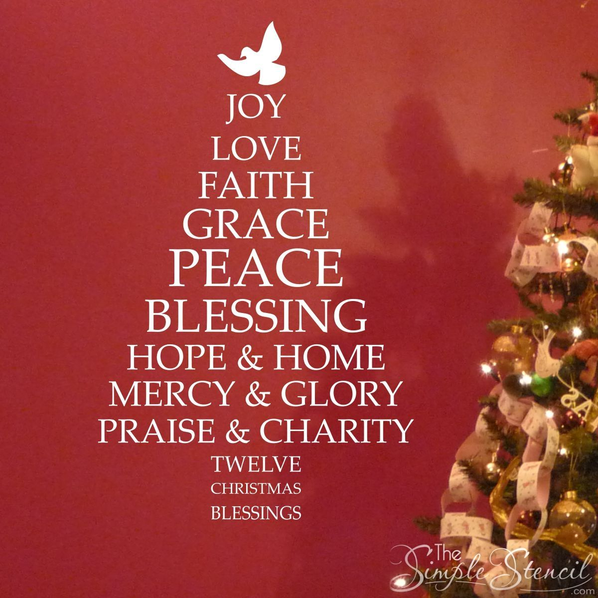 Christmas Blessings Tree A Removable Custom Vinyl Wall - Custom vinyl wall decals christmas