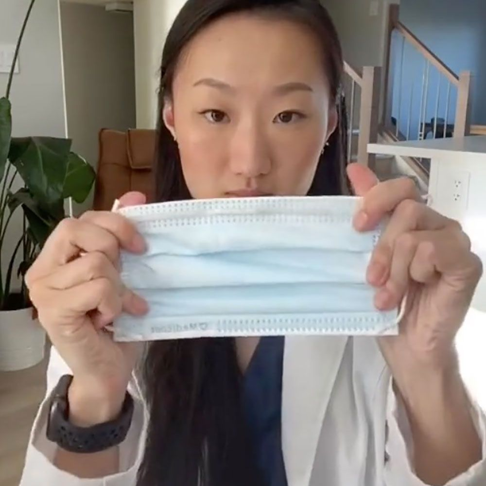 This 60 Second Hack To Make Your Face Mask Fit Better Is Going Viral On Tiktok Health Fitness Inspiration Preventative Health Dentist