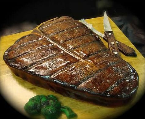 Stake? Yea That's a Cake that looks like a steak...you should see the octapuss one