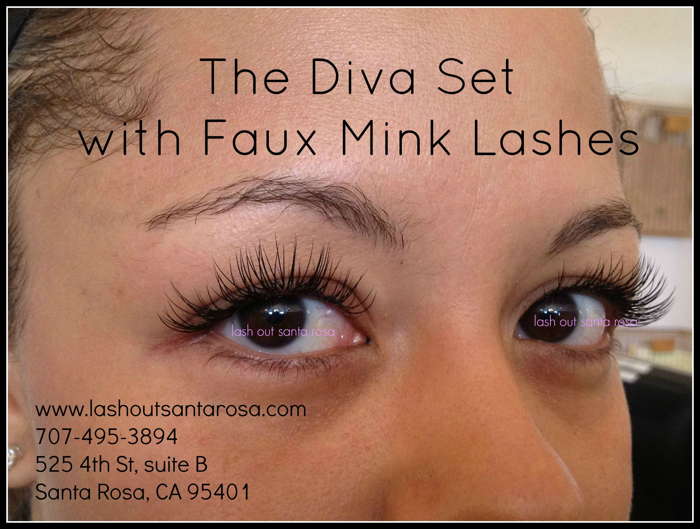 Diva Set Of Eyelash Extensions From Lash Out 707 495 3894 Www