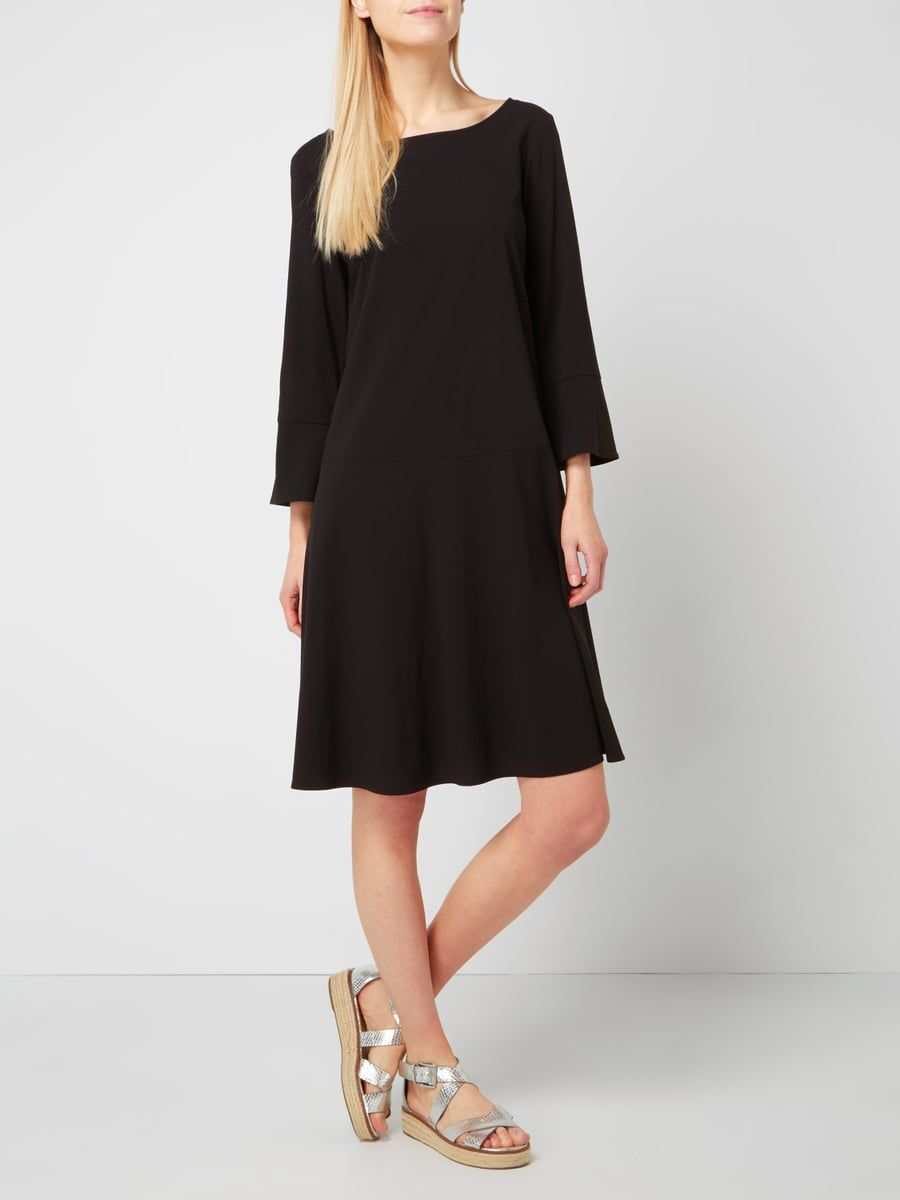 dc73a8aefb075c Marc O'Polo Kleid mit Dreiviertel-Ärmeln in Grau / Schwarz - 1 | Mode