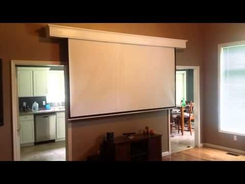 Hidden Projection Screen Project Projector Screen Diy Projection Screen Hidden Projector