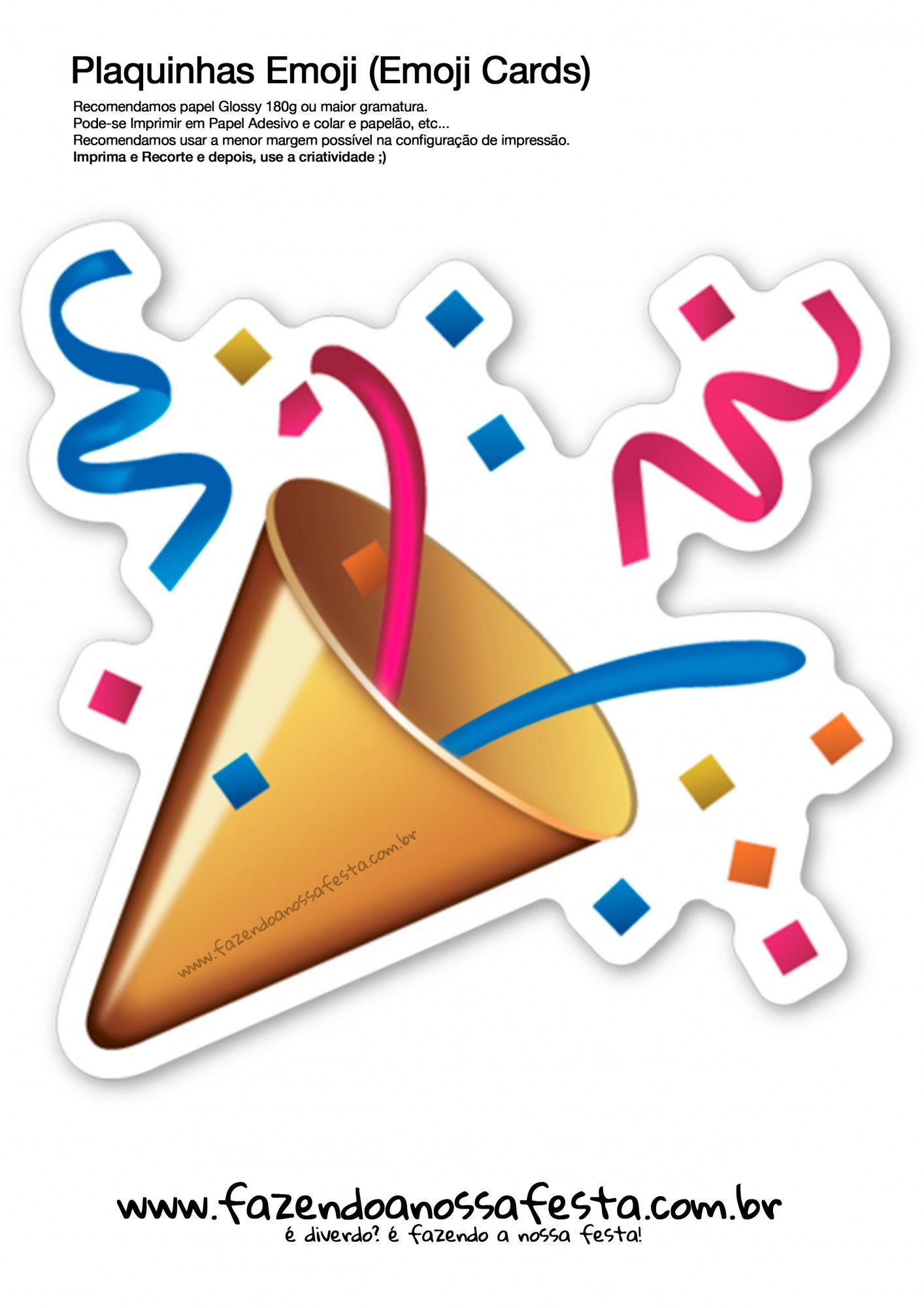Plaquinhas Emoji Whatsapp para Imprimir Festa emoji