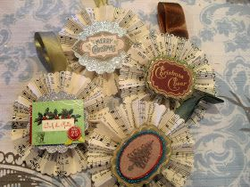 Lark & Lola: Antique Music Rosette Ornament Tutorial!