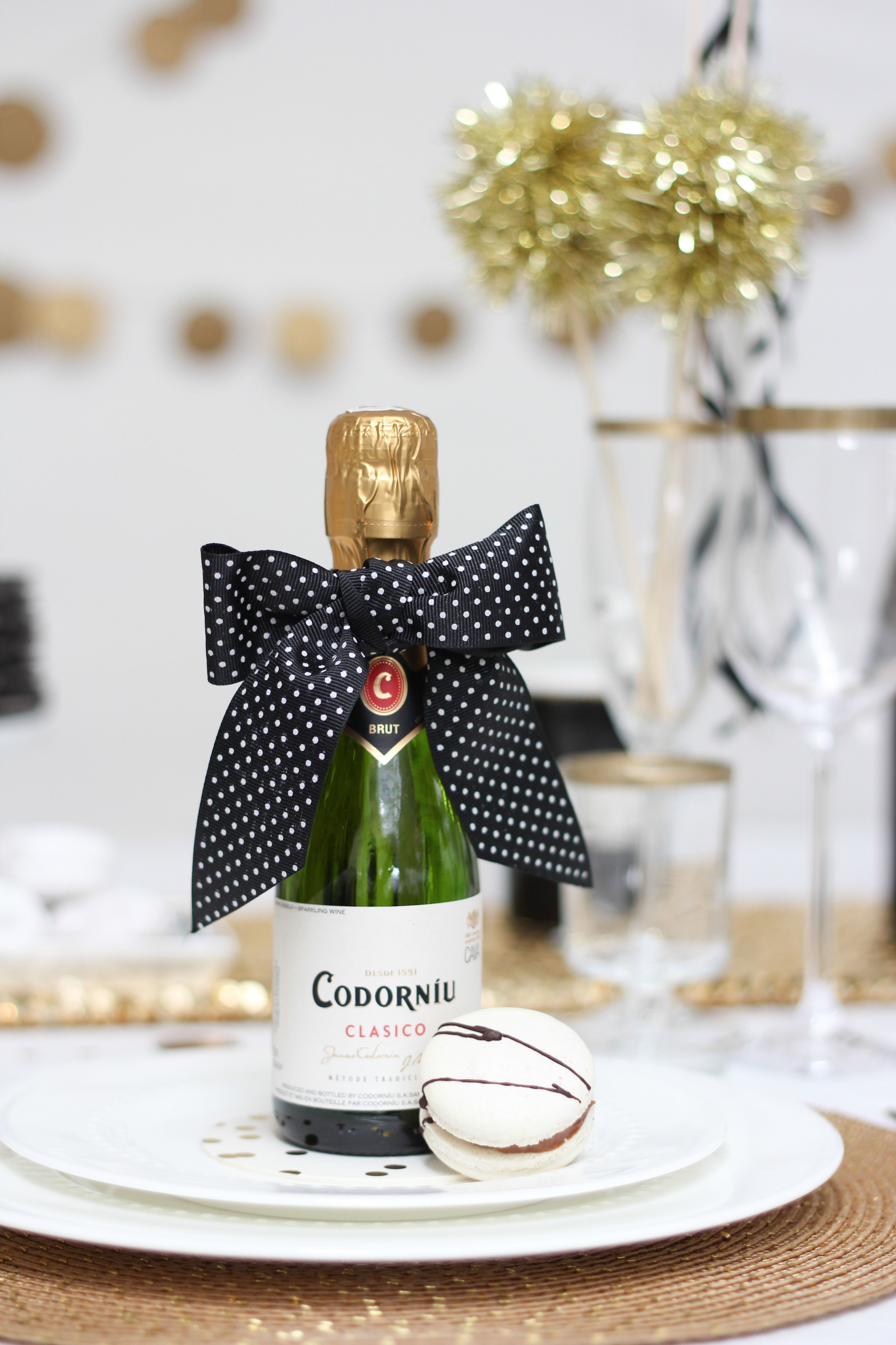 Black & White Birthday Party | Birthdays, Favours and Mini champagne ...