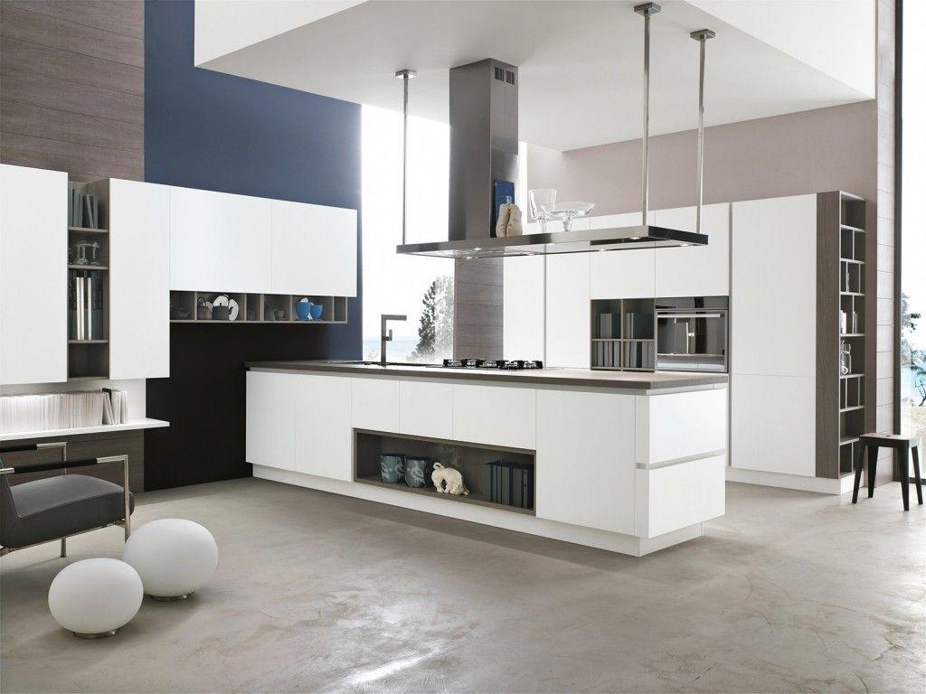 La cucina Allegra di Stosa in laccato opaco bianco prevede ...