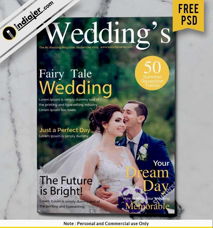 Free Wedding Magazine Cover Design Psd Wedding Magazine Cover Free Wedding Magazines Wedding Magazine