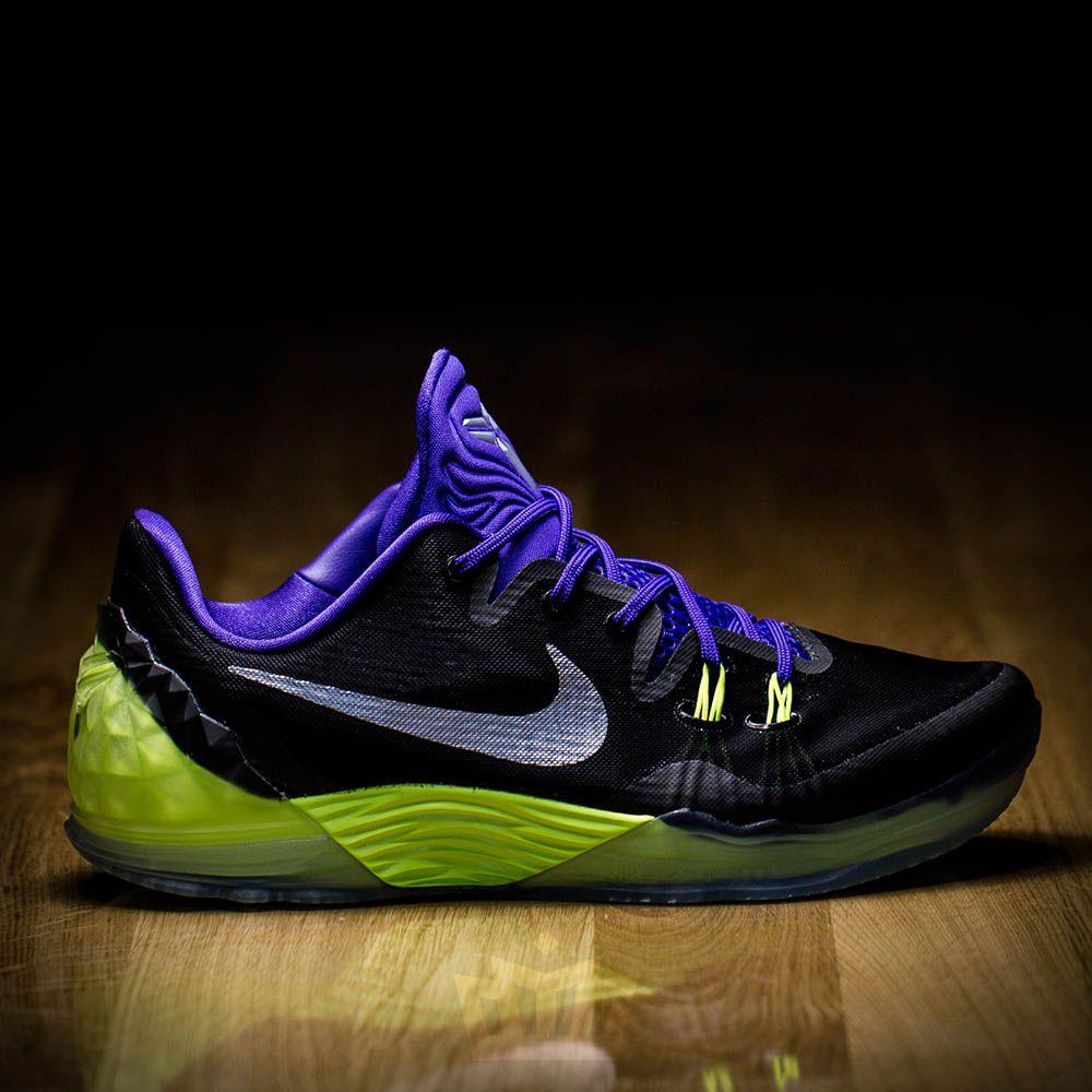 Nike Zoom Kobe Venomenon 5 Basketball Shoes Black Purple Volt New