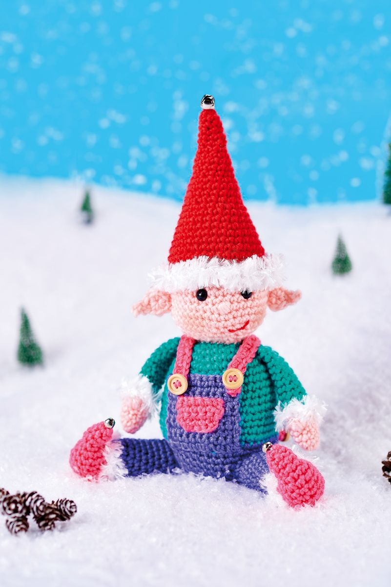Happy Elf // Let\'s Get Crafting, issue 94 // Image: cliqq.co.uk ...